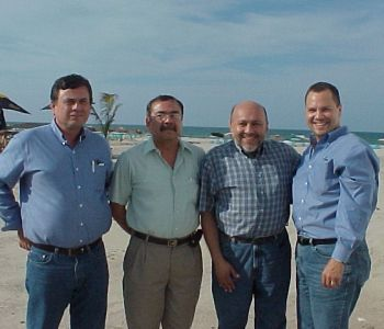 OHM's Juan Castro & Aldo Reyes with PEMEX executives in Tampico