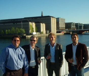 OHM's P. Michael Gandolfo III on tour of Chistrianshavns Canal in Copenhagen