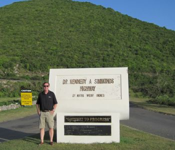 OHM's Pat Marshall at Simmons Highway Landmark