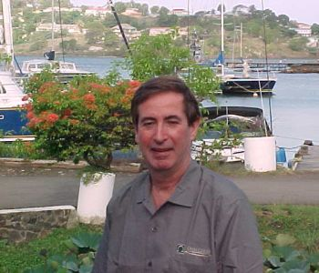 OHM's Pat Marshall in Castries harbor